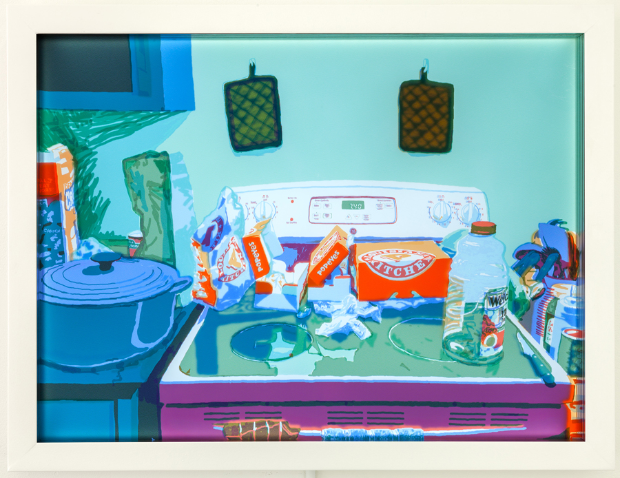 "Popeyes (after Matisse's ""Still Life with Green Sideboard"")"